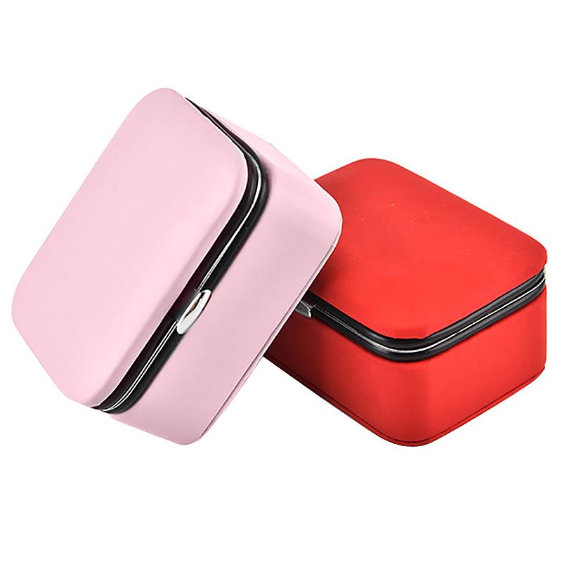 Reisen-Schmuck-Verpackung-Box-Kosmetik-Make-Up-Veranstalter-Schmuck-Box-Ohr-G3J1 Indexbild 4