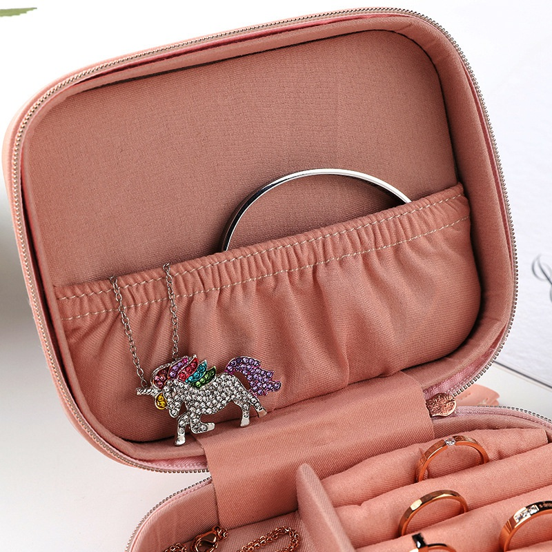 Portable-Jewelry-Box-Zipper-Storage-Organizer-Jewelry-Holder-Packaging-Disp-Z4O6 thumbnail 7