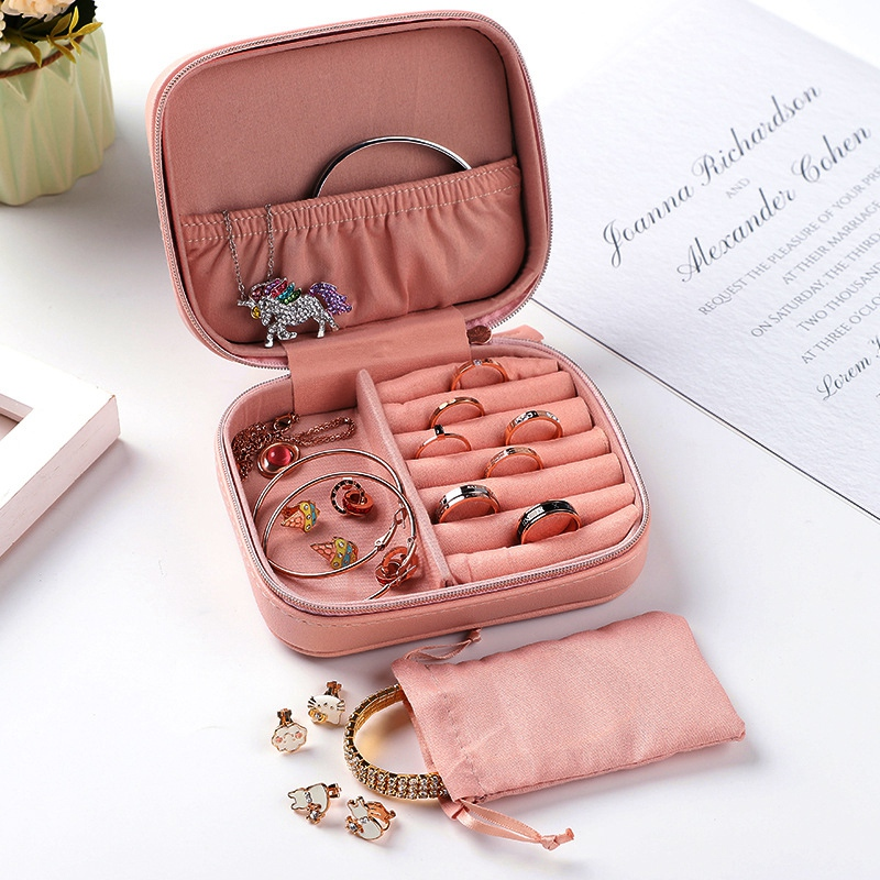Portable-Jewelry-Box-Zipper-Storage-Organizer-Jewelry-Holder-Packaging-Disp-Z4O6 thumbnail 9