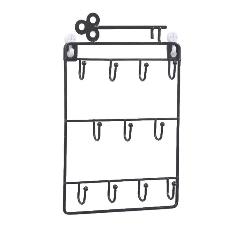 Iron-Wall-Mounted-Hooks-11-Hangers-Decorative-Key-Holder-Coat-Hat-Rack-Home-P1C0 thumbnail 3