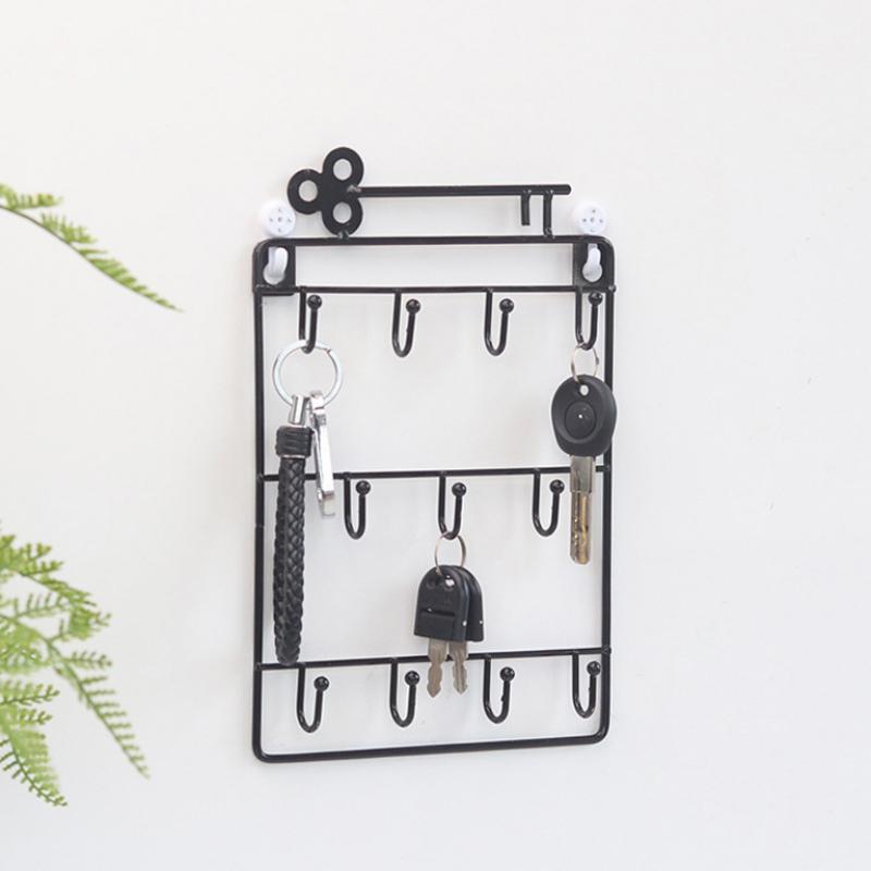 Iron-Wall-Mounted-Hooks-11-Hangers-Decorative-Key-Holder-Coat-Hat-Rack-Home-P1C0 thumbnail 4