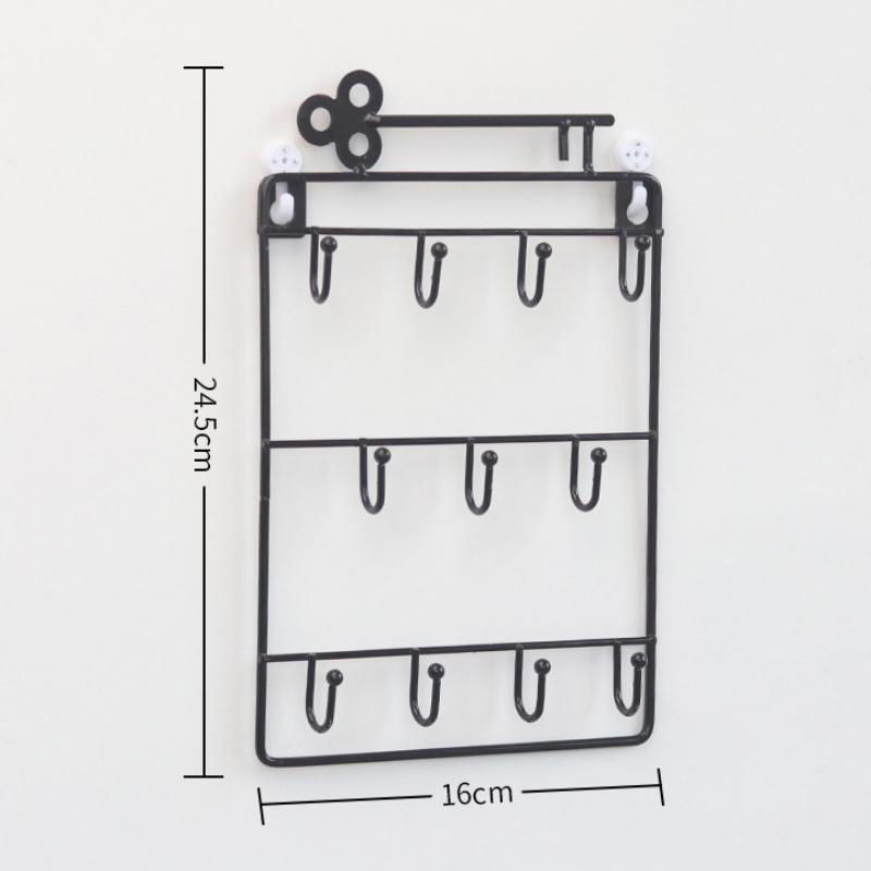 Iron-Wall-Mounted-Hooks-11-Hangers-Decorative-Key-Holder-Coat-Hat-Rack-Home-P1C0 thumbnail 5