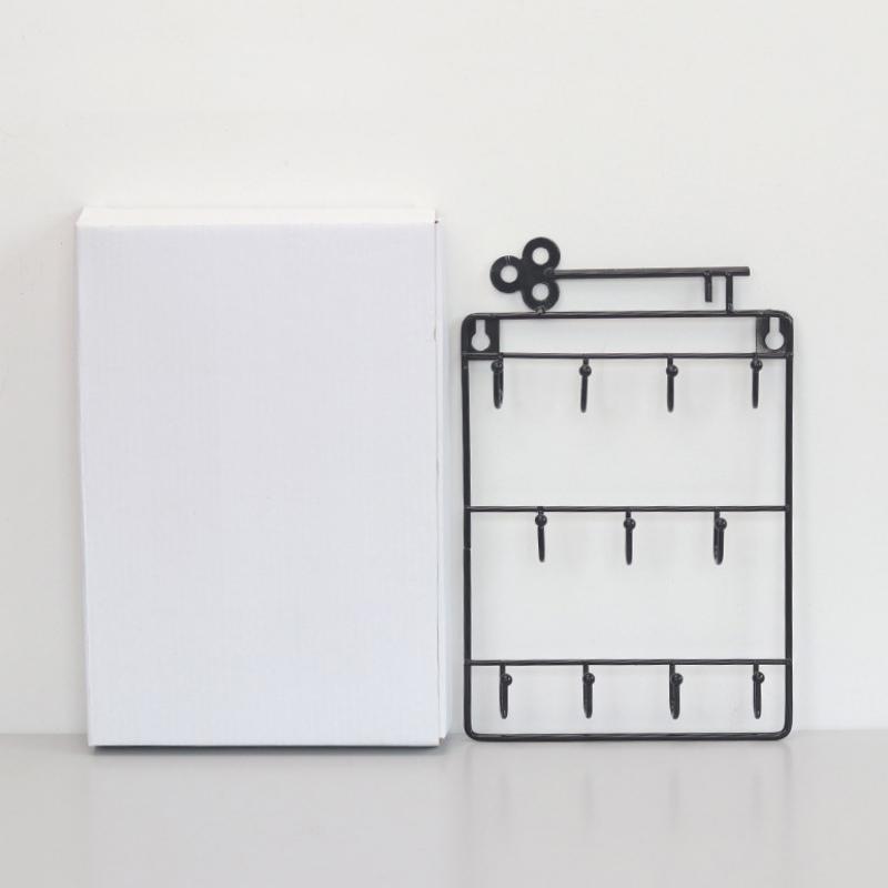 Iron-Wall-Mounted-Hooks-11-Hangers-Decorative-Key-Holder-Coat-Hat-Rack-Home-P1C0 thumbnail 7