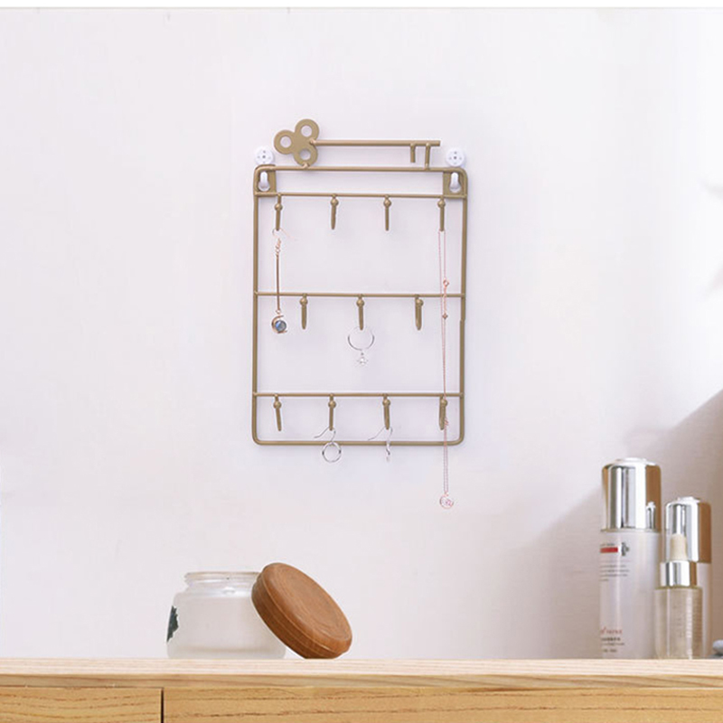 Iron-Wall-Mounted-Hooks-11-Hangers-Decorative-Key-Holder-Coat-Hat-Rack-Home-P1C0 thumbnail 9