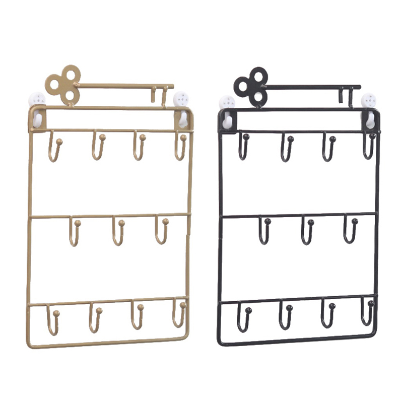 Iron-Wall-Mounted-Hooks-11-Hangers-Decorative-Key-Holder-Coat-Hat-Rack-Home-P1C0 thumbnail 13