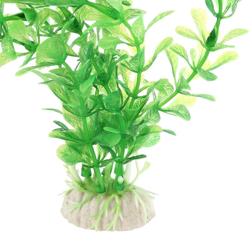 "7.9/"" High Fish Tank Green Plastic Simulation Float  Plant Grass Ornament"