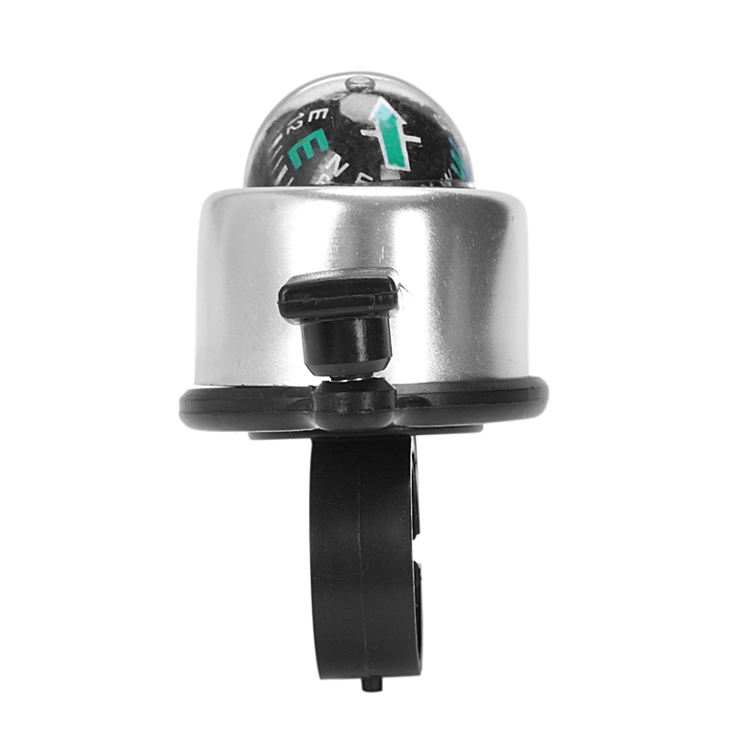 Fahrradklingel Glocke Klingel mit Kompass 34 mm 360°Drehbar schwarz 22005