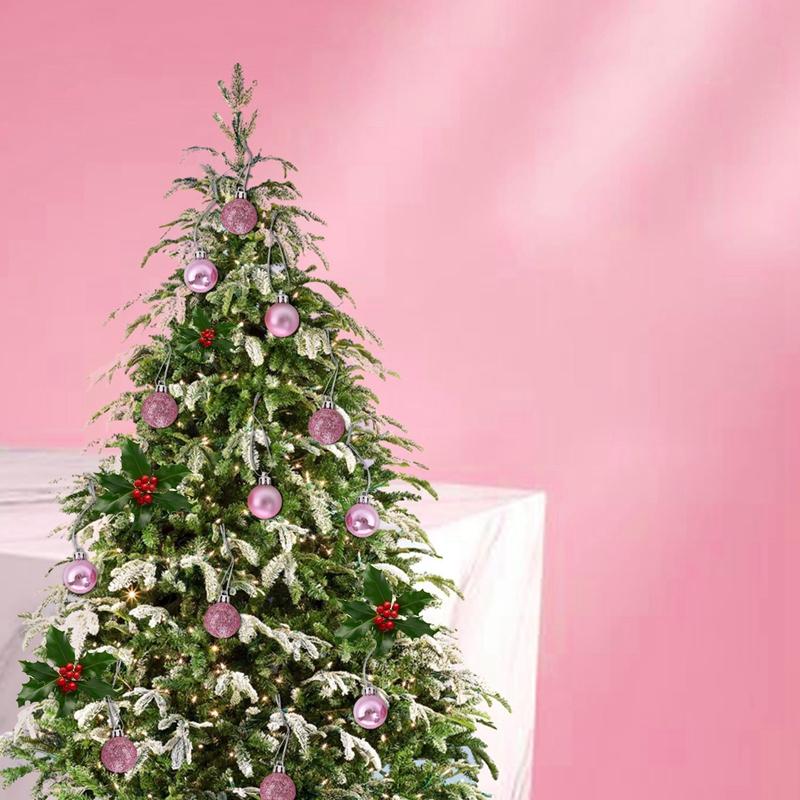 24Pcs-Chic-Natale-Palline-Albero-di-Natale-Glitter-semplice-ornamento-palla-decorati-S5F5 miniatura 47