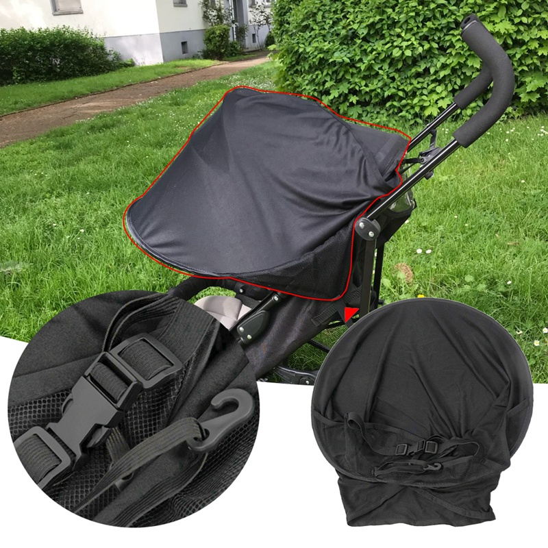 thumbnail 12 - Baby Stroller Sun Visor Carriage Sun Shade Canopy Cover for Prams Stroller  B2E1
