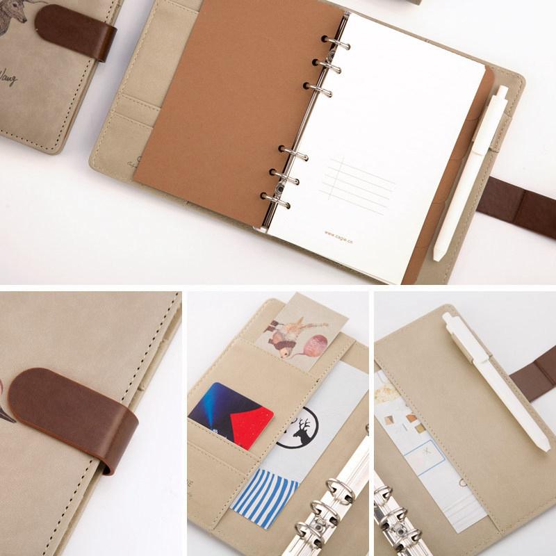 Nuevo-1Pc-Cute-Animal-Vintage-Cuaderno-Espiral-A6-Agenda-Creativa-Viajes-Diario miniatura 13