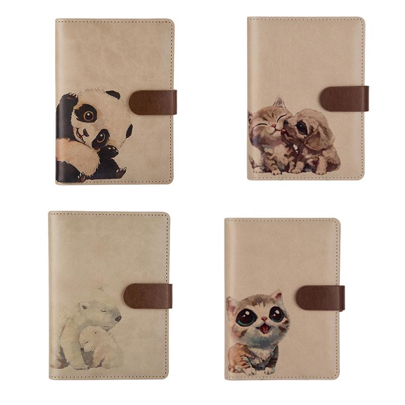 Nuevo-1Pc-Cute-Animal-Vintage-Cuaderno-Espiral-A6-Agenda-Creativa-Viajes-Diario miniatura 15