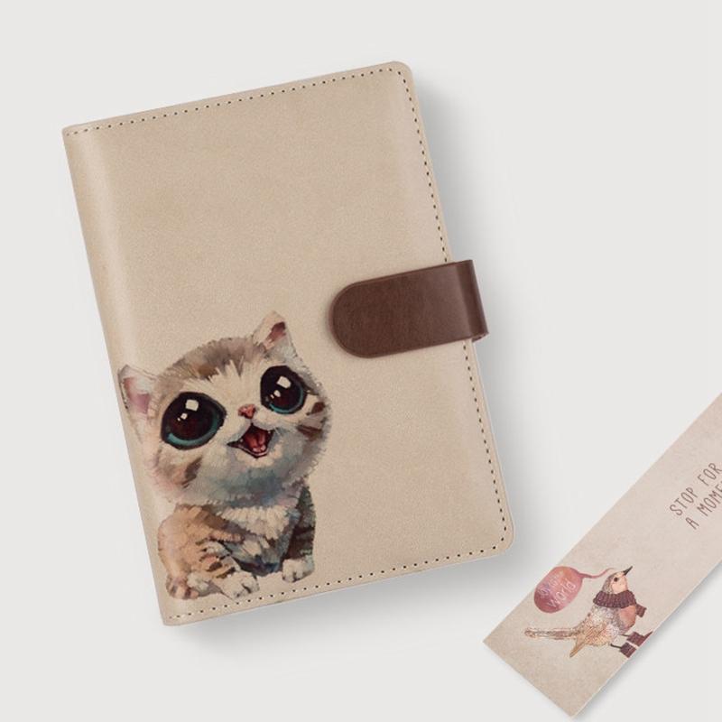 Nuevo-1Pc-Cute-Animal-Vintage-Cuaderno-Espiral-A6-Agenda-Creativa-Viajes-Diario miniatura 23