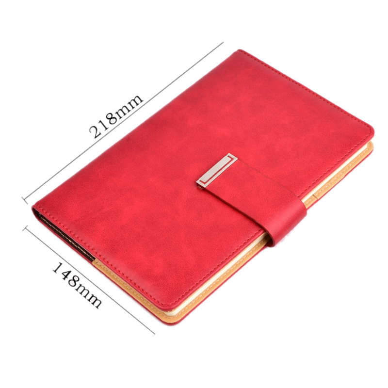 Cuaderno-de-cuero-grueso-vintage-Hebilla-Planificador-de-bloc-de-notas-para-nego miniatura 3