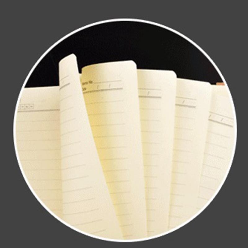 Cuaderno-de-cuero-grueso-vintage-Hebilla-Planificador-de-bloc-de-notas-para-nego miniatura 4