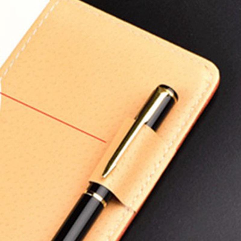 Cuaderno-de-cuero-grueso-vintage-Hebilla-Planificador-de-bloc-de-notas-para-nego miniatura 7