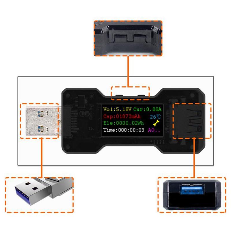 FNB18-USB-Tester-DC-Digital-Voltmeter-Ampermetro-Current-Voltage-Meter-Amp-U1O6 thumbnail 3