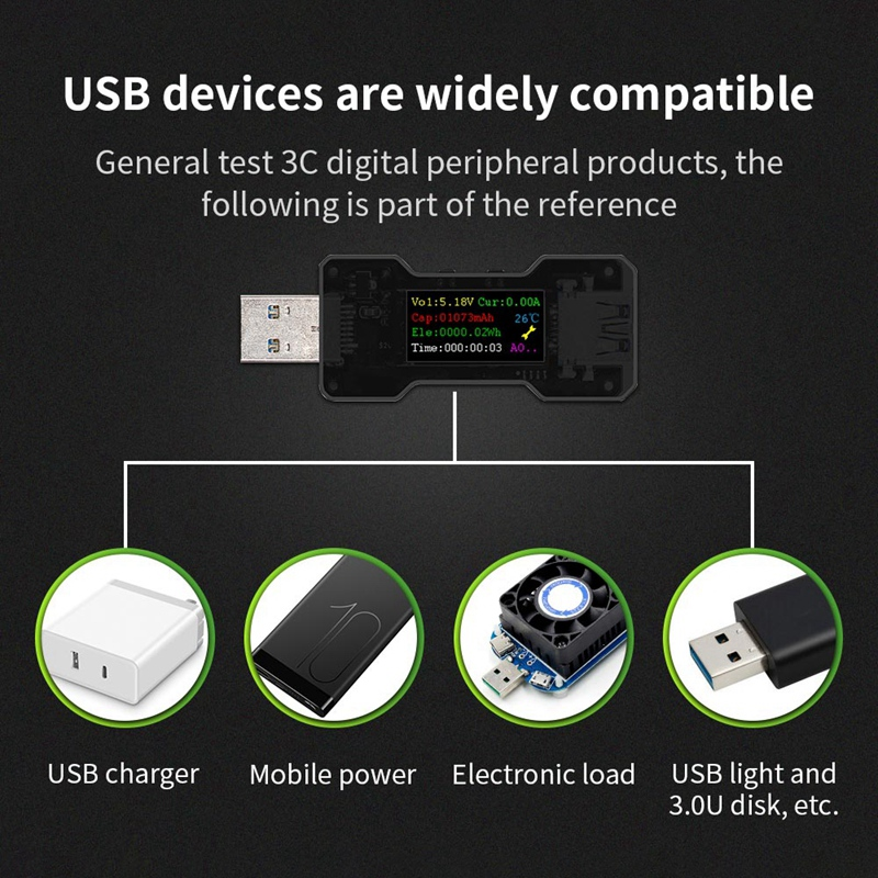 FNB18-USB-Tester-DC-Digital-Voltmeter-Ampermetro-Current-Voltage-Meter-Amp-U1O6 thumbnail 6