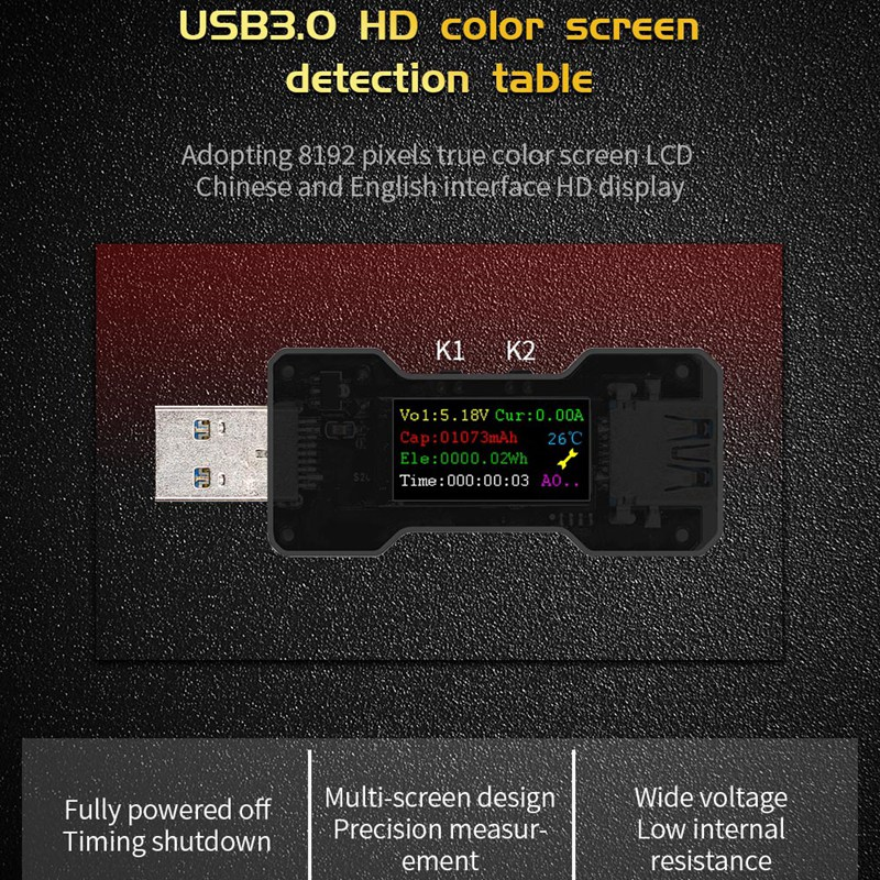 FNB18-USB-Tester-DC-Digital-Voltmeter-Ampermetro-Current-Voltage-Meter-Amp-U1O6 thumbnail 8