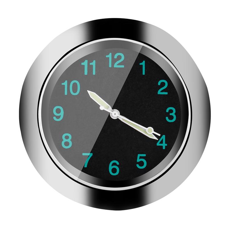 Popular-Motorcycle-Accessory-Handlebar-Mount-Time-Clock-Silver-T5B9 thumbnail 2