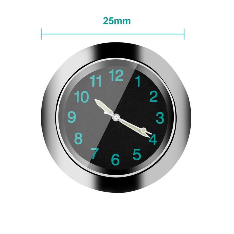 Popular-Motorcycle-Accessory-Handlebar-Mount-Time-Clock-Silver-T5B9 thumbnail 8