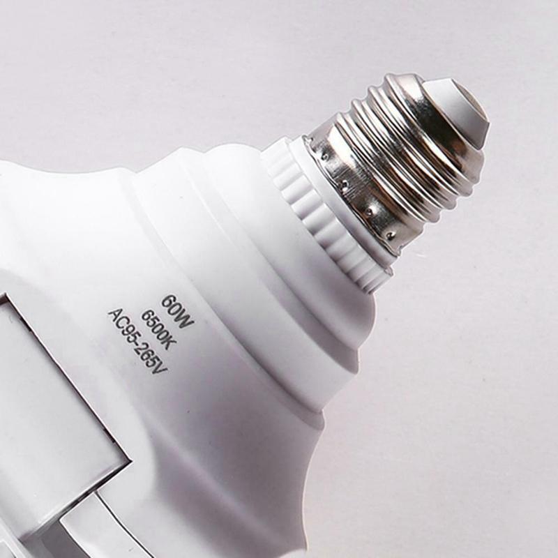 Bombilla LED E27 Plegable 4 Ventilador LáMparas de 60W