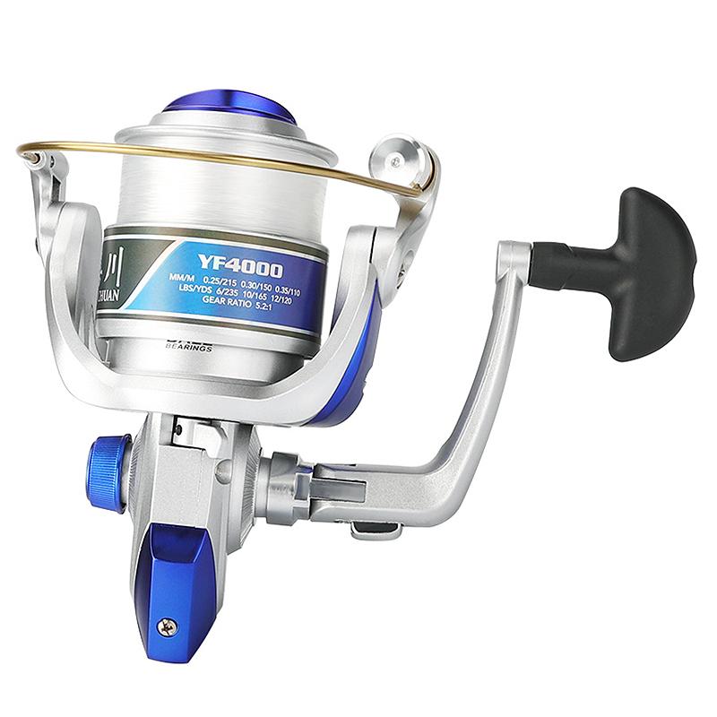 Carrete-de-Pesca-Giratorio-con-Hilo-de-Pescar-12BB-Volante-Carrete-de-Pesca-L7O8 miniatura 6