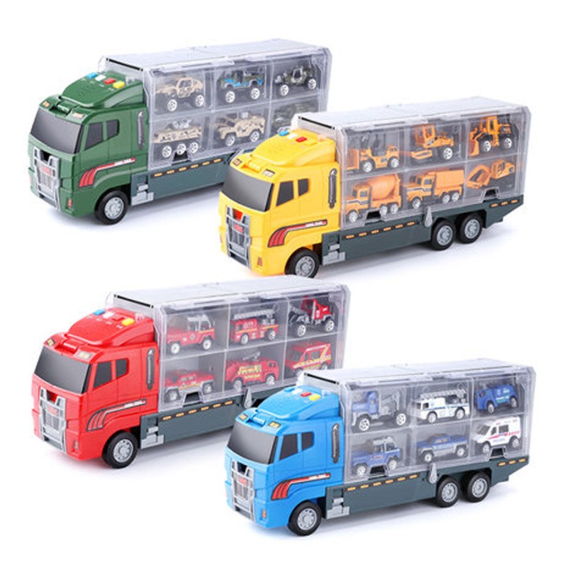 1X-Grand-Camion-et-6-PCS-Mini-Alliage-Miniature-Voiture-ModeLe-1-64-EChelle-O7E4 miniature 10
