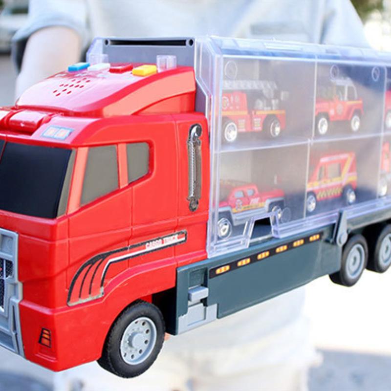 1X-Grand-Camion-et-6-PCS-Mini-Alliage-Miniature-Voiture-ModeLe-1-64-EChelle-O7E4 miniature 13