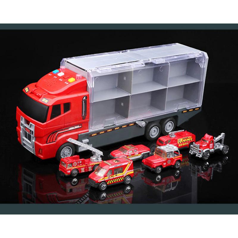 1X-Grand-Camion-et-6-PCS-Mini-Alliage-Miniature-Voiture-ModeLe-1-64-EChelle-O7E4 miniature 18