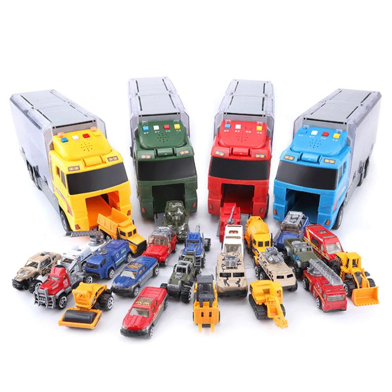 1X-Grand-Camion-et-6-PCS-Mini-Alliage-Miniature-Voiture-ModeLe-1-64-EChelle-O7E4 miniature 21