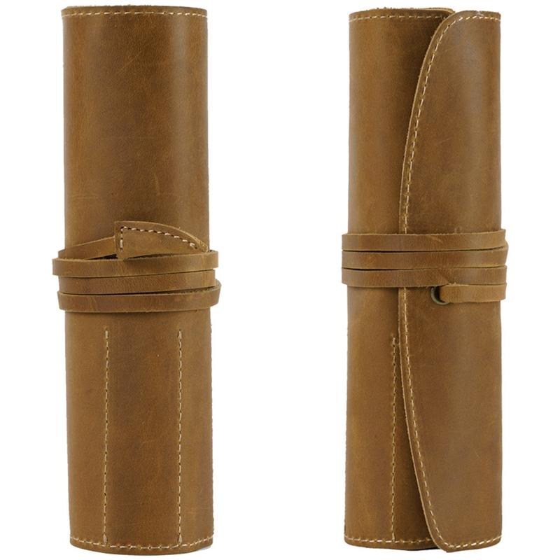 Estuche-de-LaPices-de-Cuero-Porta-LaPices-Bolso-Fijo-de-Cuero-Adecuado-para-Estu miniatura 4