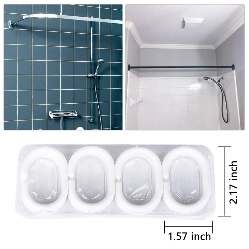 Shower-Curtain-Polyester-Fabric-Waterproof-Machine-Washable-with-12-Hooks-7-L3N8 thumbnail 2