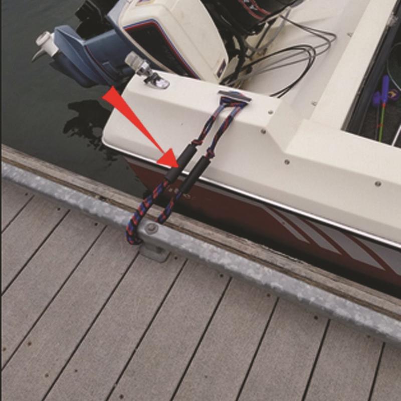 2-Unids-ElaStica-Muelle-Cuerda-Bote-Marina-Del-Barco-de-LiNea-Del-Dock-Bung-M5X2 miniatura 7