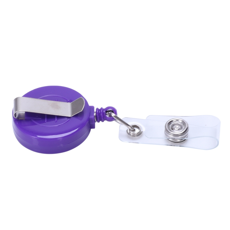 2X(1 pcs Badge Holder Retractable Reel YOYO Clip Snap Button ID Card Key B5U3)