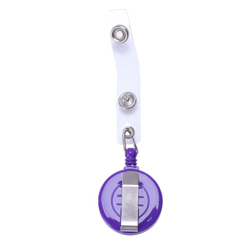 1pz-Sostenedor-de-insignia-carrete-retractil-YOYO-Clip-Boton-de-encaje-llav-V2L5 miniatura 7