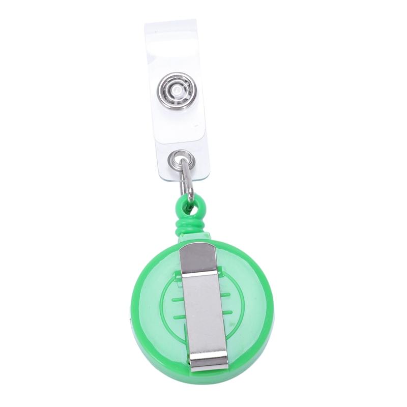 1pz-Sostenedor-de-insignia-carrete-retractil-YOYO-Clip-Boton-de-encaje-llav-V2L5 miniatura 11