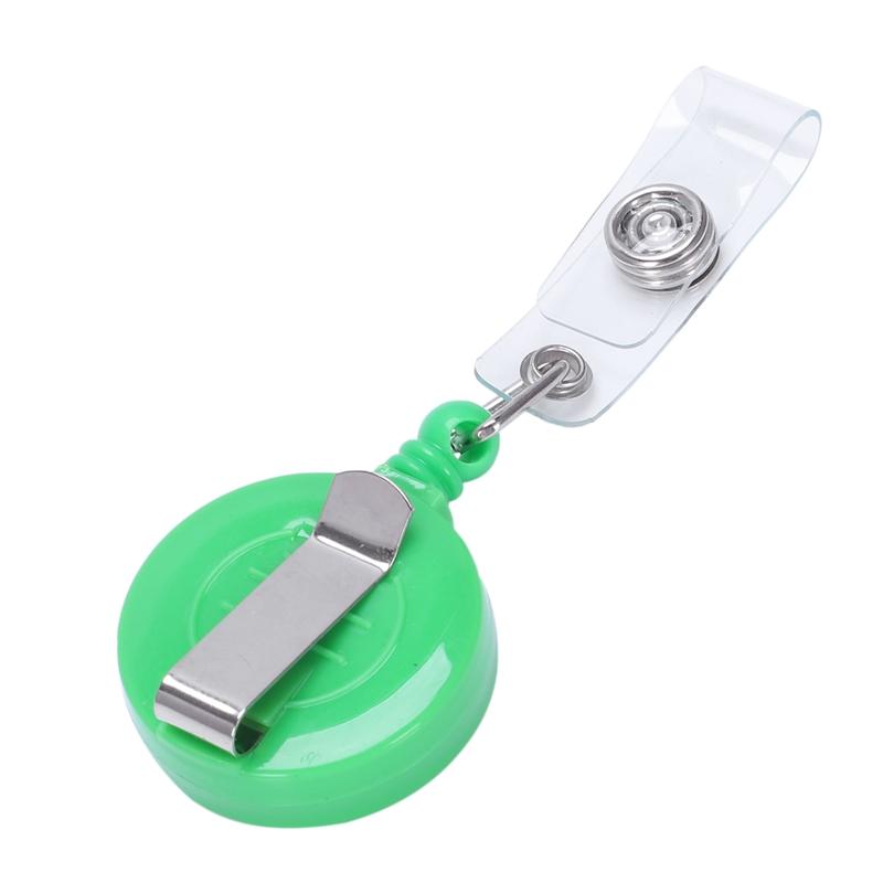 1pz-Sostenedor-de-insignia-carrete-retractil-YOYO-Clip-Boton-de-encaje-llav-V2L5 miniatura 12