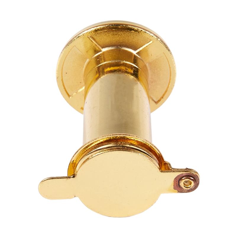Gold Ton T7Q7 Sicherheit 180癕etall Tuer Spiegel Viewer Abdeckung Blick Loch