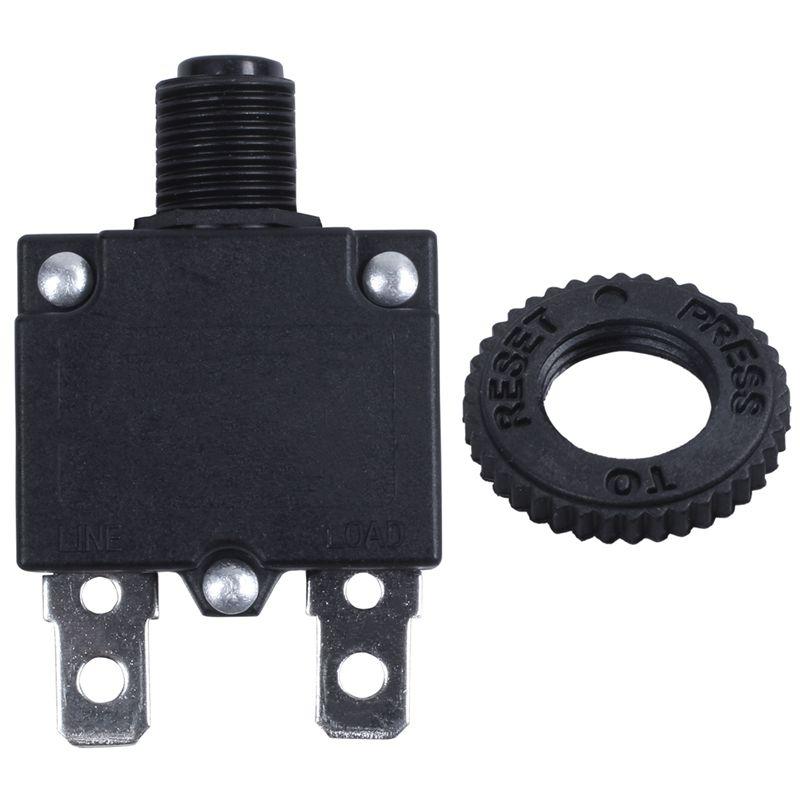 AC 125//250V 10A Circuit Breaker Thermal Overload Protector Black I9Z6