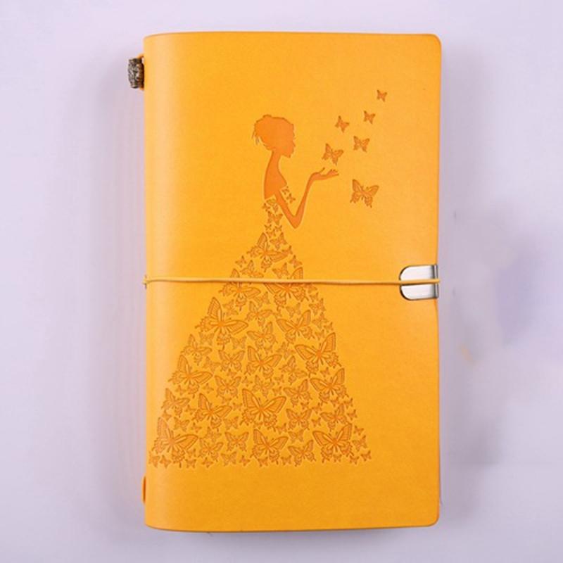 HueBsche-Dame-Vintage-Reisende-Notebook-Tagebuch-Notizblock-PU-Leder-Literat-D7B1 Indexbild 4