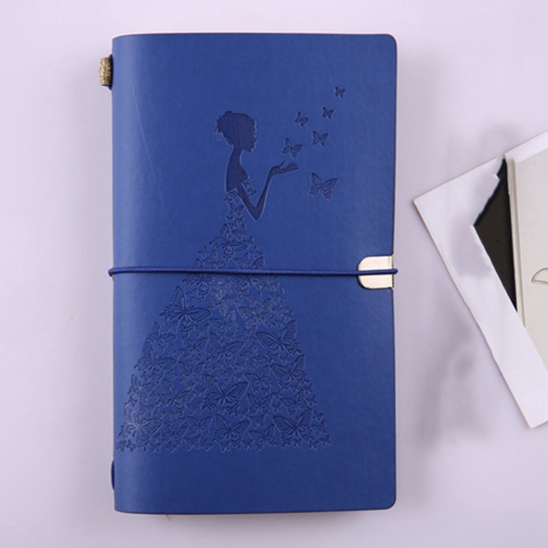 HueBsche-Dame-Vintage-Reisende-Notebook-Tagebuch-Notizblock-PU-Leder-Literat-D7B1 Indexbild 6