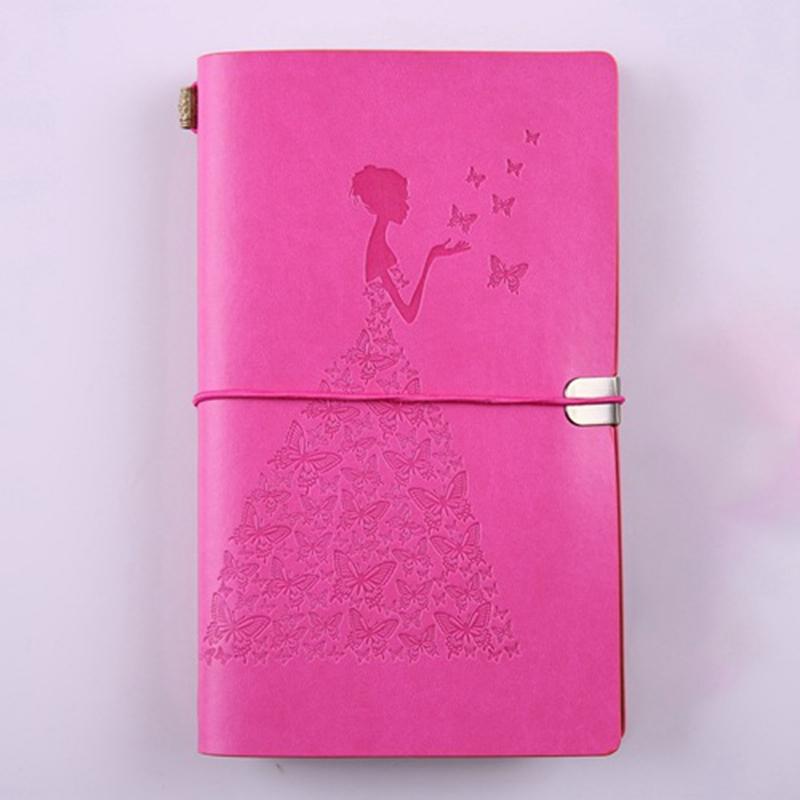 HueBsche-Dame-Vintage-Reisende-Notebook-Tagebuch-Notizblock-PU-Leder-Literat-D7B1 Indexbild 7
