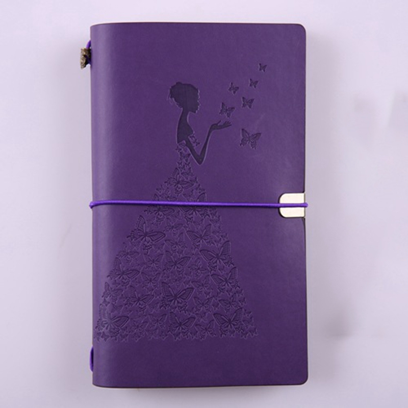 HueBsche-Dame-Vintage-Reisende-Notebook-Tagebuch-Notizblock-PU-Leder-Literat-D7B1 Indexbild 15