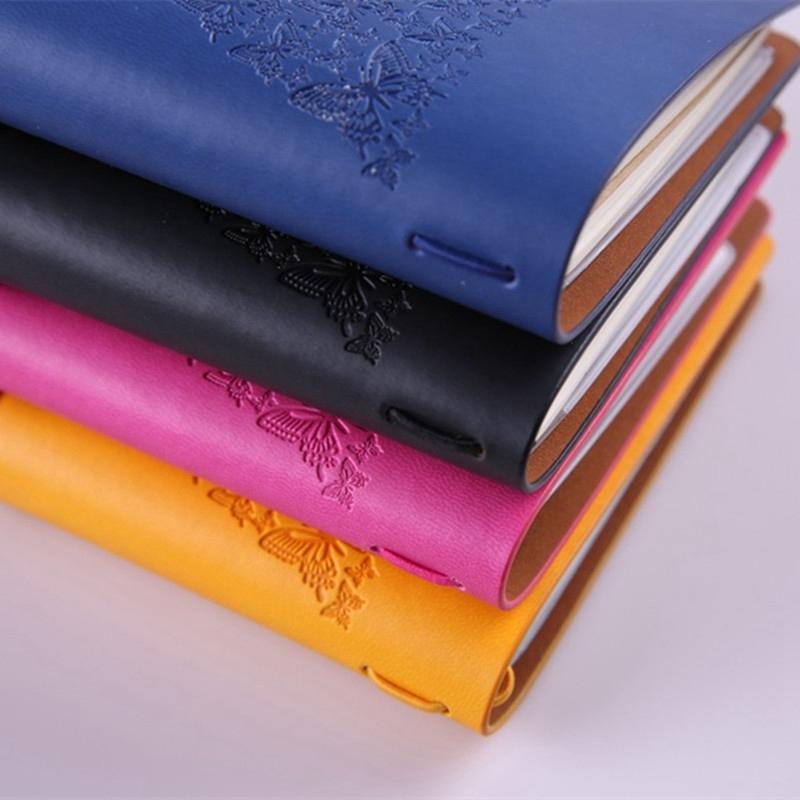 HueBsche-Dame-Vintage-Reisende-Notebook-Tagebuch-Notizblock-PU-Leder-Literat-D7B1 Indexbild 30
