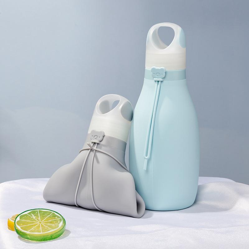 Indexbild 5 - Faltbare Silikon Wasser Flasche Faltbare Wasser Flasche für Kinder Auslaufs R1C6