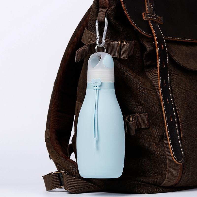 Indexbild 8 - Faltbare Silikon Wasser Flasche Faltbare Wasser Flasche für Kinder Auslaufs R1C6