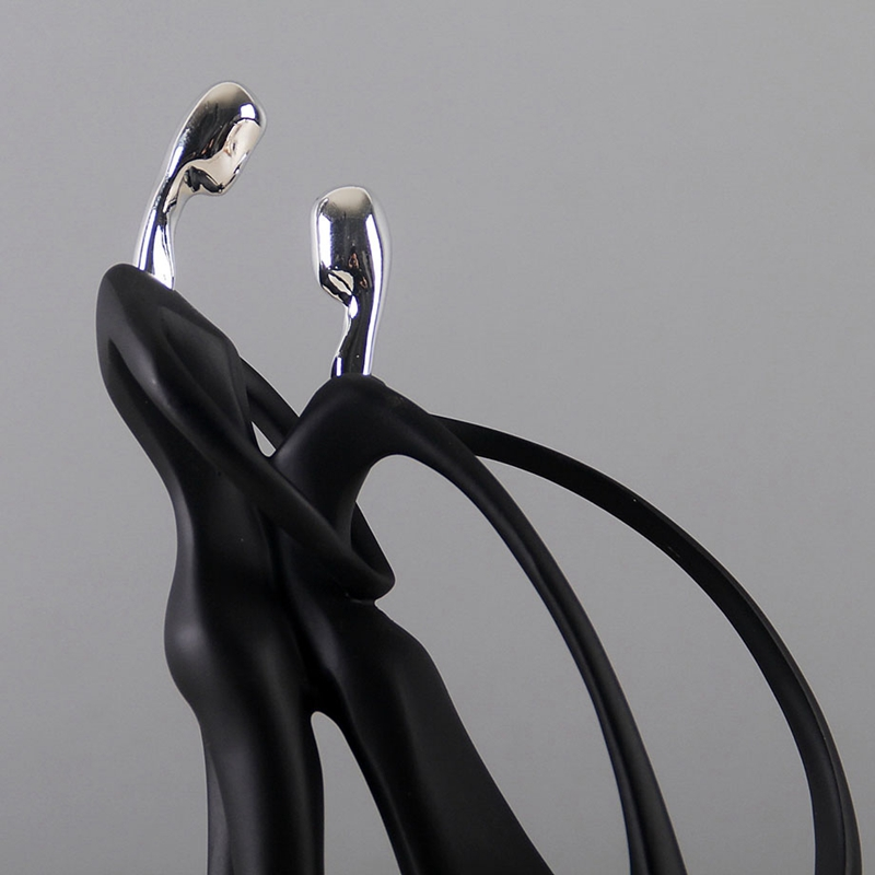 1X-Modern-Abstract-Black-Human-Body-Statue-Home-Decoration-Wedding-Gift-CreZ2T9 thumbnail 4