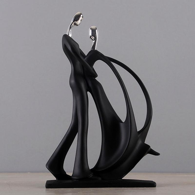 1X-Modern-Abstract-Black-Human-Body-Statue-Home-Decoration-Wedding-Gift-CreZ2T9 thumbnail 5