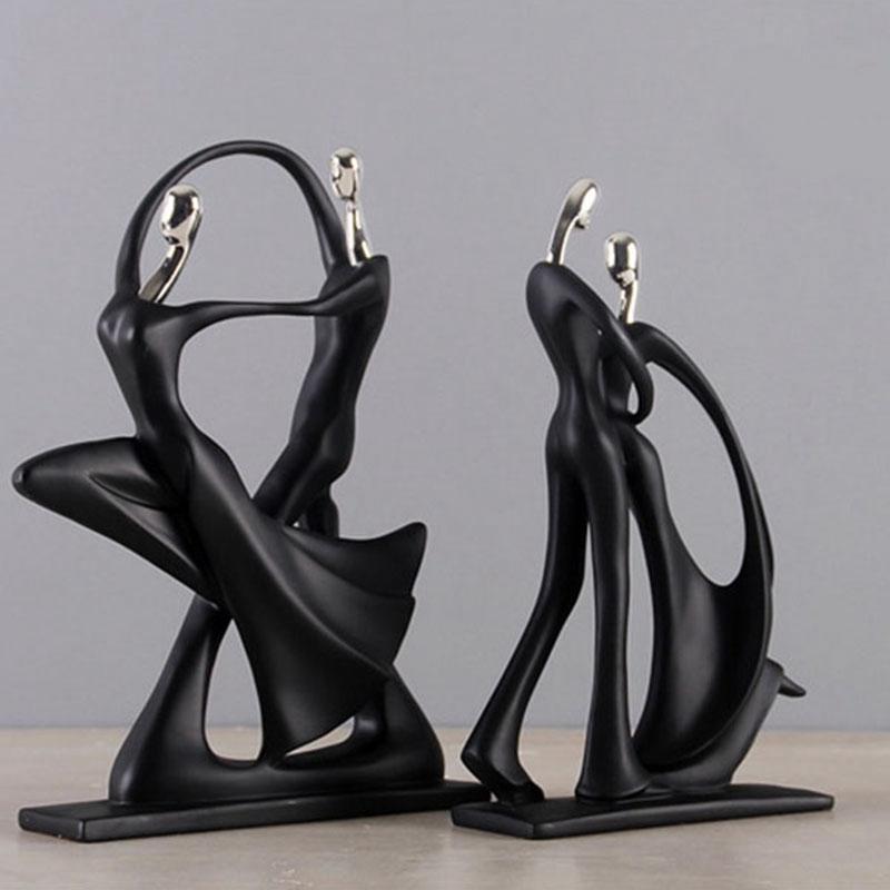 1X-Modern-Abstract-Black-Human-Body-Statue-Home-Decoration-Wedding-Gift-CreZ2T9 thumbnail 6