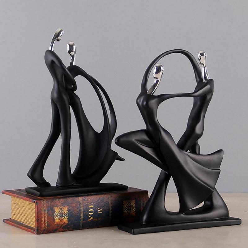 1X-Modern-Abstract-Black-Human-Body-Statue-Home-Decoration-Wedding-Gift-CreZ2T9 thumbnail 8